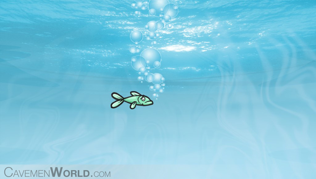 a lonely fish at sea