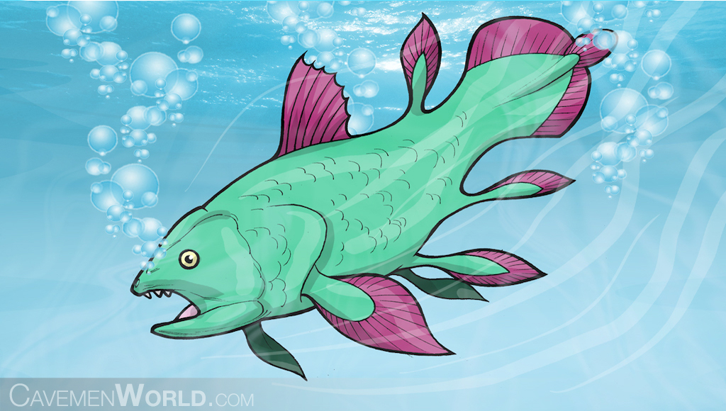 a giant green and pink fish that is extinct